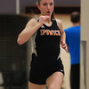Ipswich: Ipswich sophomore Michaela Hedderman wins her heat of the 300 in a tri-meet with Saugus and Manchester-Essex on Friday afternoon. DAVID LE/Staff Photo