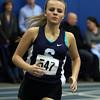 DAVID LE/Staff photo. Swampscott senior Sara Martin runs the 600 meter run. 1/14/16.