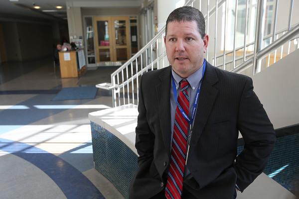 KEN YUSZKUS/Staff photo.   Swampscott High School's interim principal Frank Kowalski.     01/13/16.