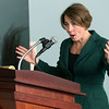 Attorney General  Maura Healey addresses the Trauma-Informed Sexual Assault Investigation and Adjudication Institute being held at Salem State