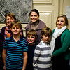 "NICOLAS TANNER/Photo.     From right to left, Cailin Kelleher DeBiase of Hamilton, Joanne Kelleher of Beverly, Mary Grace Kelleher of Beverly, Shannon Kelleher Perri of Groveland, Joe Kelleher of Beverly stand in front of Finn, Callum, and Harry DeBiase. At an exhibit called ""Chilly Business,"" which focuses on a local ice production business opens at the Beverly Historical Society in Beverly. 1/19/17"