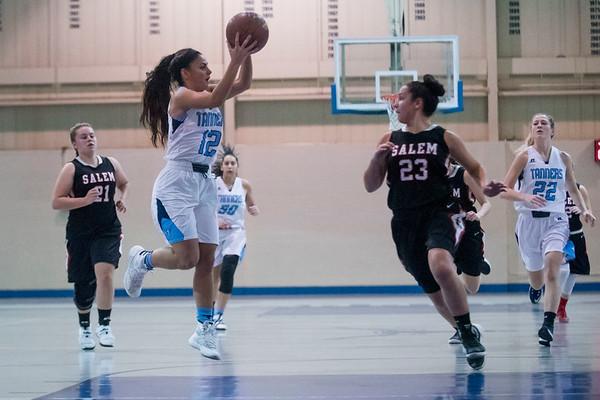 Peabody senior Alyssa Alperen catches the ball in their game at Peabody High School. 1/10/17