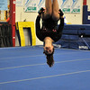 NICOLAS TANNER/Photo.     Aurora Billante, a junior on Gloucester high school's gymnastics team competes on the floor against Beverly high school at a meet held at the Sterling Center YMCA in Beverly. 1/19/17