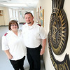 "Dennis and Susan Knight are the new directors/pastors of the Salvation Army on North Street in Salem. The duo recently moved to the North Shore from Kentucky with their five children and have visions for the ""beautiful"" Salvation Army building which Dennis this is being underutilized. DAVID LE/Staff photo. 7/23/14."