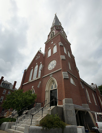 St. John the Baptist Church on Chestnut Street in Peabody. DAVID LE/Staff photo. 7/24/14.