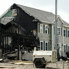 KEN YUSZKUS/Staff photo. The fire scene on Folger Avenue in Beverly.   7/14/14