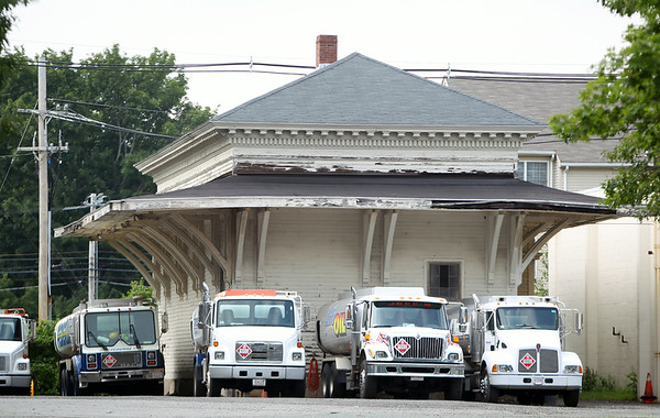 The old Danvers train station sits on the Townsend Oil property located at 27 Cherry Street in Danvers. The Danvers Train Station Renovation Project won approval in a state bond bill. DAVID LE/Staff photo. 7/15/14.