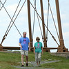 Adam Smith, and his mom Carol Smith, have been running a walk around Marblehead Neck for breast cancer every fall in Marblehead after Adam's wife Sara was diagnosed. Sara passed away, but the Smith's still hold the walk which on average draws around 500 people and this October 5th will mark the 9th annual walk. DAVID LE/Staff photo. 7/29/14.
