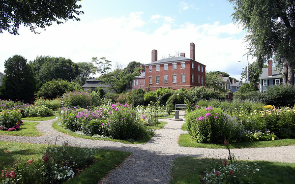 The Ropes Mansion Gardens are beautiful and in full bloom this summer. The gardens are open to the public and are located behind the Ropes Mansion at 318 Essex Street in downtown Salem. DAVID LE/Staff photo. 7/28/14.