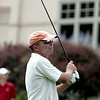 KEN YUSZKUS/Staff photo. John Hogan of Ferncroft Country Club hits off the 1st tee on the first day of play at the 105th Massachusetts Amateur Championship (golf) at Kernwood Country Club in Salem.   7/14/14