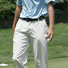 KEN YUSZKUS/Staff photo. Nick McLaughlin of Far Corner Golf Course warms up on the putting green before paticipating in the second day of play at the 105th Massachusetts Amateur Championship (golf) at Kernwood Country Club in Salem.  7/15/14