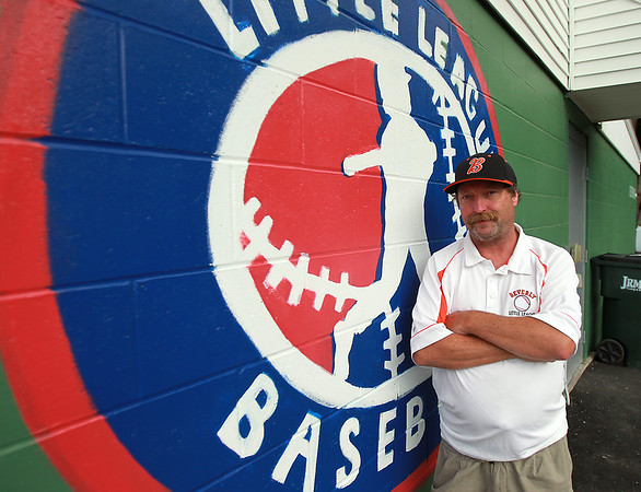 Beverly Little League President Tom Smith. Harry Ball Field in Beverly will be the site for the 12-year-old All-star Williamsport State Finals. DAVID LE/Staff photo. 7/17/14.