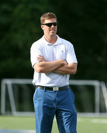 New St. John's Prep Head Football Coach Brian St. Pierre. DAVID LE/Staff photo. 7/24/14.