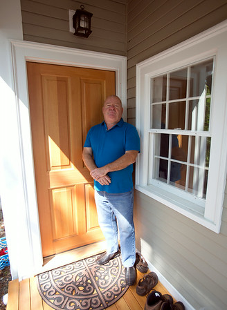 Middleton builder Michael Panzero saved a historical house located at 52 Centre Street in Danvers from being demolished and completely renovated the house. DAVID LE/Staff photo. 7/25/14.