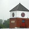 EBSCO has recently added a clock tower to the Old Mill Building which overlooks the downtown Ipswich area. DAVID LE/Staff photo. 7/16/14.