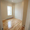 Bedroom in one of the apartment units. The ten units are made up of eight 1-bedroom apartments and two studio apartments, and replaced the old Masonic Lodge which was vacant for over twenty years. DAVID LE/Staff photo. 7/31/14.