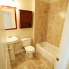 The bathroom in one of the units. The ten units are made up of eight 1-bedroom apartments and two studio apartments, and replaced the old Masonic Lodge which was vacant for over twenty years. DAVID LE/Staff photo. 7/31/14.