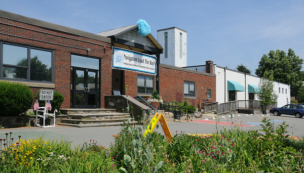 KEN YUSZKUS/Staff photo. The Marblehead Community Charter Public School at 17 Lime Street, Marblehead.   7/7/14