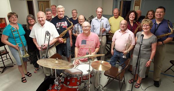 DAVID LE/Staff photo. 7/2/15. The Acovates Jazz Band is celebrating its 50th anniversary next week.