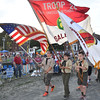 Scouts from Salem Troop 24 parade the colors to start the Salem 4th of July activities. The scouts are  (l-r) Daniel Whitten, David Vozzo, and Jack Duda.<br /> <br /> Photo by joebrownphotos.com