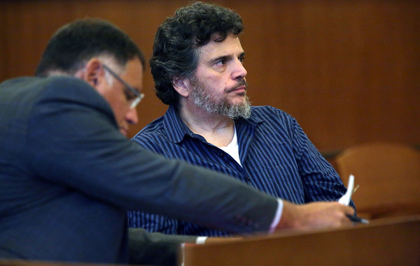 KEN YUSZKUS/Staff photo    Douglas Campbell, right, is in Salem Superior Court for sentencing in the Gloucester rape case.       07/05/16