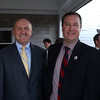 DAVID LE/Staff photo. From left, Eric Scamman, of the North Shore Chamber of Commerce, Russell Cole, President and CEO of First Ipswich Bank, Steve Crowder, of the North Shore Chamber of Commerce, and Jim Healey, of Salem Five, at an after hours networking event held at the Salem Country Club in Peabody by the North Shore Chamber of Commerce. 7/20/16.