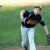 CARL RUSSO/Staff photo. Andover National starting pitcher, Chase Lembo in action. Andover defeated Woburn 16-6 in Little League action. 7/20/2016