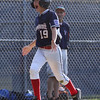 DAVID LE/Staff photo. Swampscott's Nathan DeRoche skips home happily after launching a 3-run homer for the Big Blue against Peabody West in the District 16 Championship on Friday evening. 7/15/16.