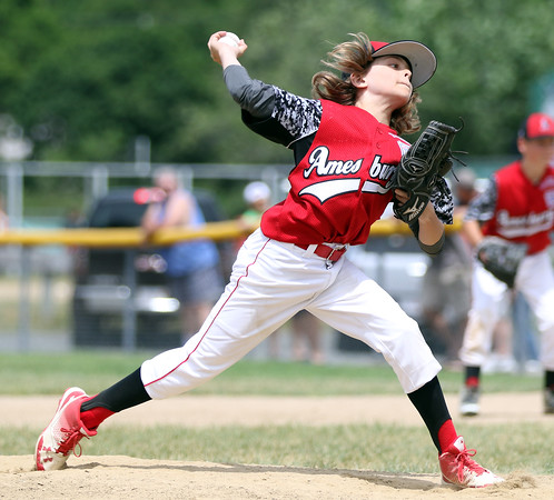 DAVID LE/Staff photo. Amesbury relief pitcher Shea Cucinutta fires a pitch against Danvers National on Saturday afternoon. 7/2/16.
