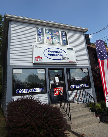DAVID LE/Staff photo. Douglass Appliance in Danvers has been open over 50 years. The family run business will not be open on the tax-free weekend in August. 7/22/16.
