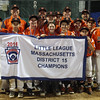 DAVID LE/Staff photo. Beverly captured the District 15 Championship with a thrilling 4-2 win over Manchester-Essex on Thursday evening at Harry Ball Field. 7/14/16.