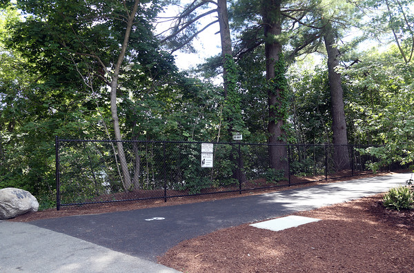 DAVID LE/Staff photo. The newly renovated Spring Pond Trail in Peabody was given a facelift. 7/27/16.