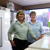 DAVID LE/Staff photo. Sisters Diana Young, left, and Brenda Ferris, are part of the Douglass family that owns Douglass Appliance in Danvers, a store which has been open over 50 years. The family run business will not be open on the tax-free weekend in August. 7/22/16.