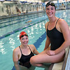 HADLEY GREEN/Staff photo<br /> Sisters Sara, right, and Nicole Welch both were MVPs of their respective swim teams this past season. Sara swims at Brown University and Nicole swims for Beverly High. 7/27/17
