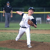 HADLEY GREEN/ Staff photo<br /> Hamilton-Wenham pitcher Connor McClintock (23) winds up at the Hamilton-Wenham v. Gloucester Little League tournament game at the Harry Ball Field in Beverly. 7/11/17