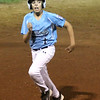 HADLEY GREEN/Staff photo<br /> Peabody's Joey Raymond (1) runs to third base at the Peabody West Little League all-stars' game vs. Gloucester at the Reinfuss Field in Lynn. 7/19/17