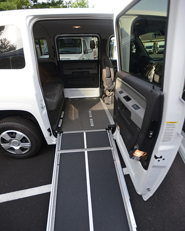 RYAN HUTTON/ Staff photo<br /> A new MV-1 wheelchair accessible van is part of the fleet at the Peabody Council on Aging. The van was purchased with the help of the state Department of Transportation's Mobility Assistance Grant.