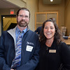 RYAN HUTTON/ Staff photo<br /> From left, Charlie Wear and Deb Gallo, of Meridian Associates, at the North Shore Chamber of Commerce's After Hours event at the Wylie Inn and Conference Center on Thursday.