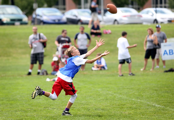 Julian Edelman holds football camp in Danvers