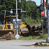Ongoing work at the Montserrat commuter rail stop and Gloucester Crossing