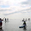 HADLEY GREEN/ Staff photo<br /> Paddlers prepare to race around Salem Harbor at the Paddle for Plummer annual fundraiser for the Plummer Youth Promise in Salem, Massachusetts. 7/08/17