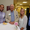 RYAN HUTTON/ Staff photo<br /> From left, Miguel Tavarez, of iHeart Media, Tim Clark, from the North Shore Chamber of Commerce, Rachel Maniates, of the North Shore Chamber of Commerce, and Ken Goode, of MassDevelopment, at the North Shore Chamber of Commerce's After Hours event at the Wylie Inn and Conference Center on Thursday.