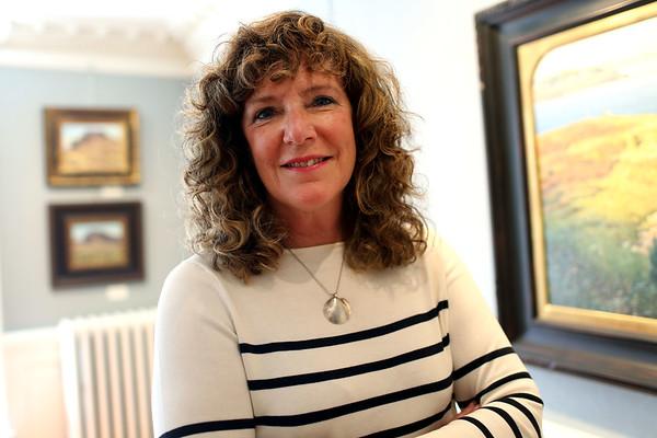 HADLEY GREEN/Staff photo<br /> Marblehead Arts Association Director Patti Baker. 8/01/17