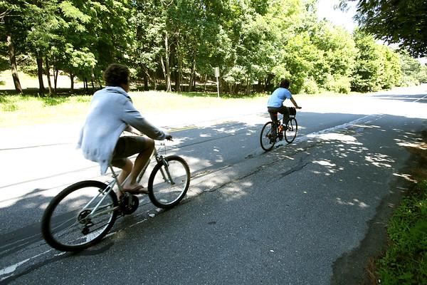 Scene of the fatal bike accident