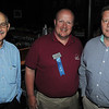 KEN YUSZKUS/Staff photo. From left, Herb Harris of Padgett Business Services, John Landry of Landry Home Decorating, and Brian McHugh of Cranney Companies attend the Peabody Chamber of Commerce gathering at the newly opened Black Sheep Pub & Grille in Peabody.  6/2/14.