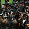 KEN YUSZKUS/Staff photo. Graduates assemble and mingle before the Beverly High School graduation.   6/1/14.