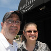 KEN YUSZKUS/Staff photo. Mike and Lill Chalifour are owners of the newly opened Black Sheep Pub & Grille in Peabody.  6/2/14.
