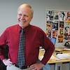 KEN YUSZKUS/Staff photo.  Danvers High teacher David Allen will retire after 46 years.   6/11/14