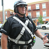 Peabody Police Officer Richard Heath has been assigned to the new downtown patrol position. DAVID LE/Staff photo. 6/19/14.