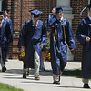 KEN YUSZKUS/Staff photo. Graduates file out of the building to start the processional at Hamilton-Wenham graduation at Gordon College Chapel.   6/1/14.